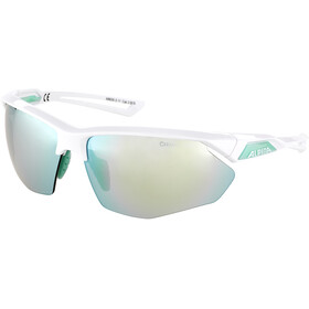 Alpina Nylos HR Glasses white-pistachio/emerald mirror
